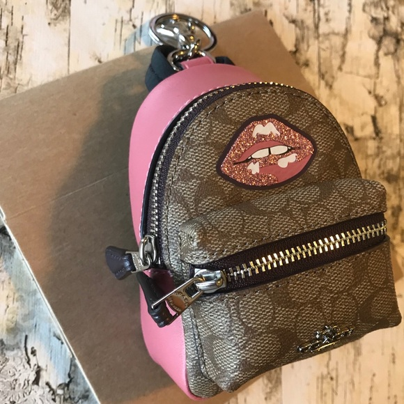 0fcc84fc05 NWT Coach Mini Backpack Coin Purse Key Chain